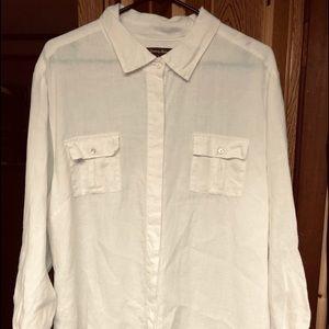 TOMMY BAHAMA WHITE SHIRT LINEN XL